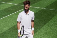Benoit Paire wearing Lacoste at Wimbledon 2017