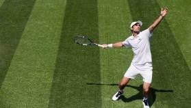 Jeremy Chardy wearing Lacoste at Wimbledon 2017