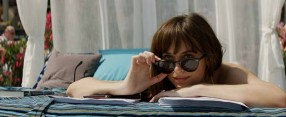 """DAKOTA JOHNSON returns as Anastasia Steele in """"Fifty Shades Freed,"""" the climactic chapter based on the worldwide bestselling """"Fifty Shades"""" phenomenon. Bringing to a shocking conclusion events set in motion in 2015 and 2017's blockbuster films that grossed almost $950 million globally, the film arrives for Valentine's Day 2018."""