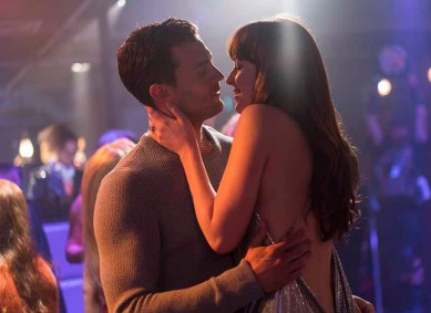 """JAMIE DORNAN and DAKOTA JOHNSON return as Christian Grey and Anastasia Steele in """"Fifty Shades Freed,"""" the climactic chapter based on the worldwide bestselling """"Fifty Shades"""" phenomenon. Bringing to a shocking conclusion events set in motion in 2015 and 2017's blockbuster films that grossed almost $950 million globally, the film arrives for Valentine's Day 2018."""