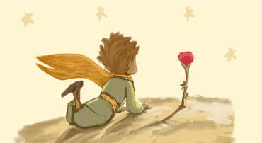 petit prince et la rose