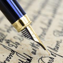 Ecrire lettres mots page stylo