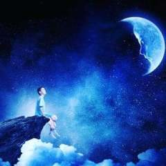 lune garçon nuit
