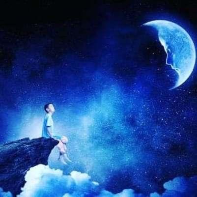 lune garçon nuit réalité