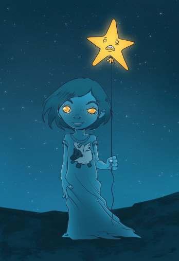 fille étoile rêve nuit