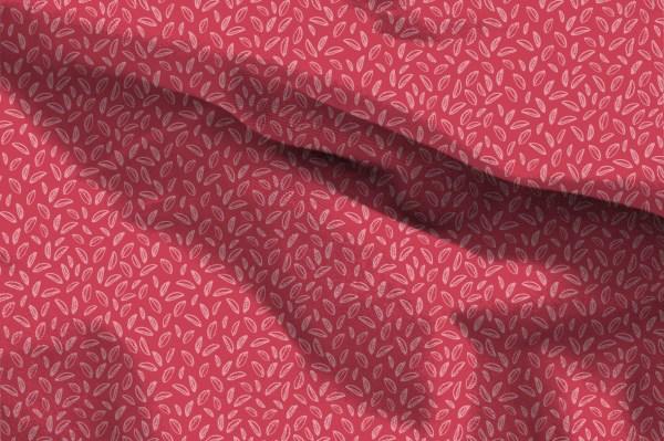 Forêt de champignons - Feuilles rouges
