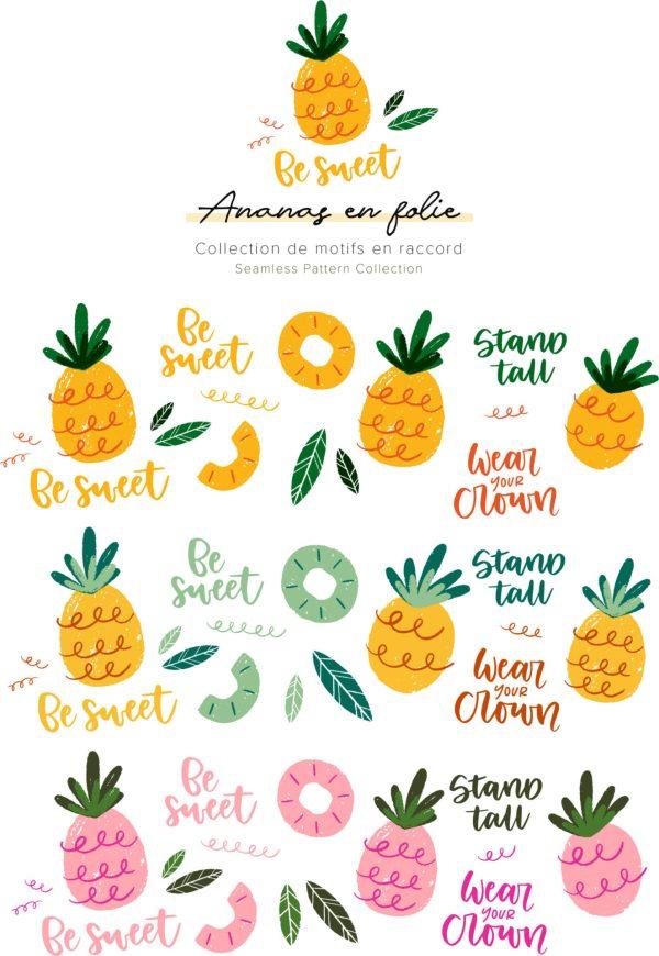 Ananas en folie - Éléments