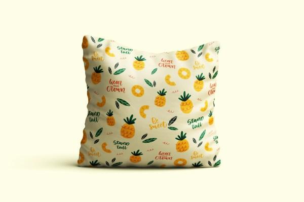 Ananas en folie - Coussin