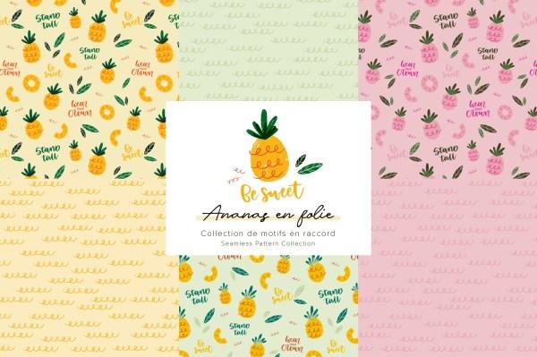 Ananas en folie - Collection de motifs