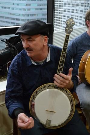 Irish banjo player