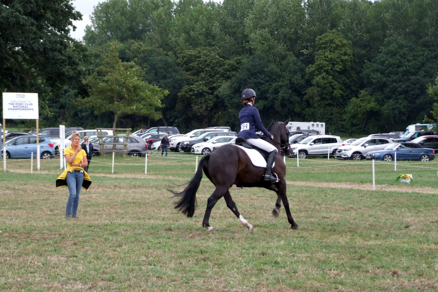 Marie coaching at the Pony Club Championships