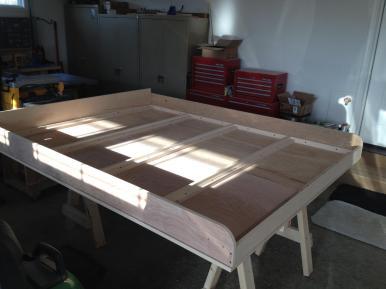 Completed bed platform