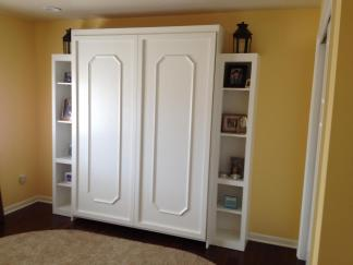 Decorative items in the side cabinets