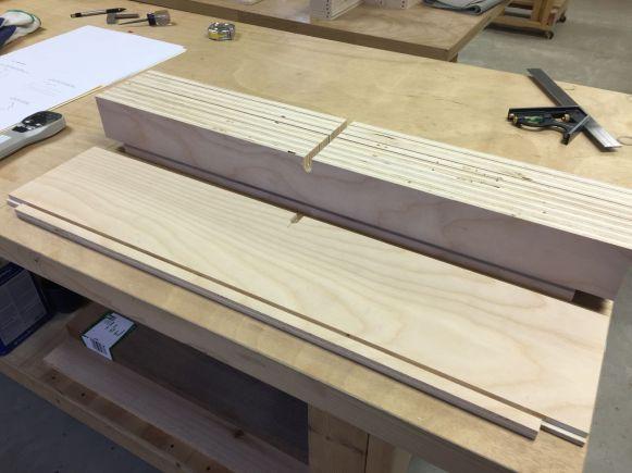 Lock Notches Cut in Drawer Backs