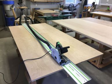 Breaking Down the Sheet Goods with My Tracksaw