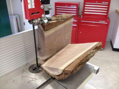 Bandsawing a Walnut Log