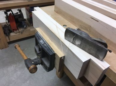 Easing corners with a block plane