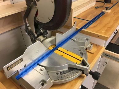 "Cutting 12"" off each T-Track with a triple chip grind non-ferrous metal blade"
