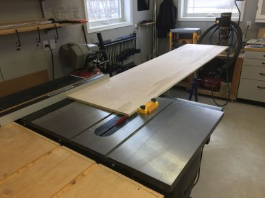 Ripping to final widths on the table saw
