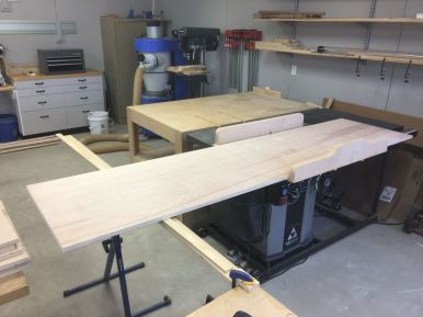 Sizing panels with shop made cross cut sled