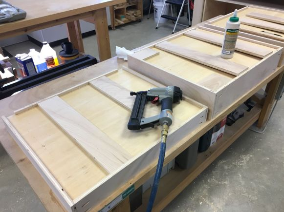 "Adding 1/2"" plywood strips to reinforce 1/4"" plywood drawer bottoms"