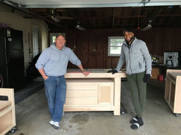 I am looking forward to seeing all the great projects James will do on his new workbench!