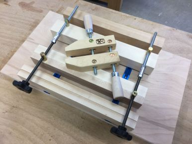 The wooden hand screw clamp that inspired this vise design.