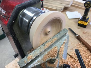 Forming the finished bowl without a proper bowl gouge