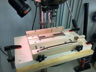 Testing the parallel feature cut into the vise jaws.