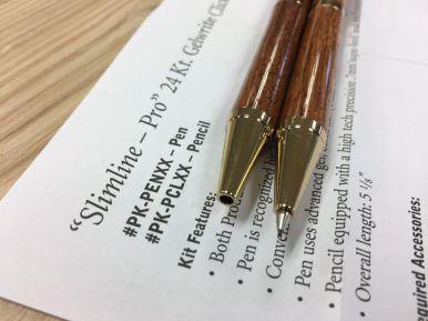 Pen and Pencil set tip details
