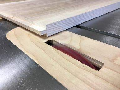 Forming the end tenons with a dado blade on the table saw