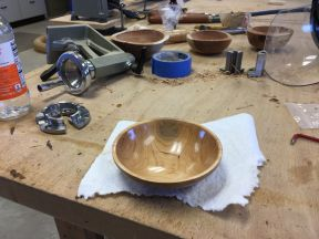 A lot of work and process steps go into making a finished bowl from a log destined for the fireplace!