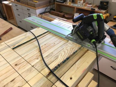 Gang-Notching Rafters for 14' Purlins