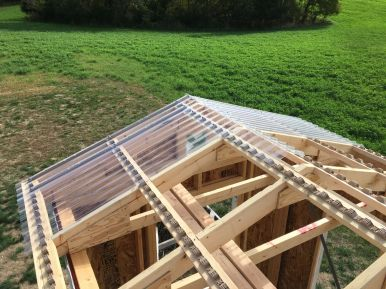 Attaching the Corrugated Polycarbonate Roof Panels