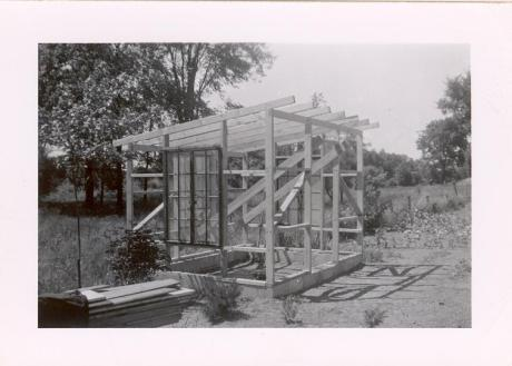 The Original Cottage Under Construction in the Early 1950s