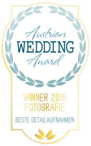Gewinner Austrian Wedding Award Photography