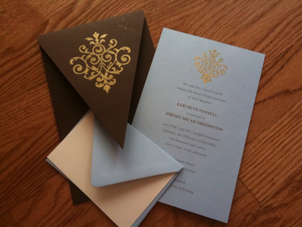 Embossed Wedding Invitations Delectable