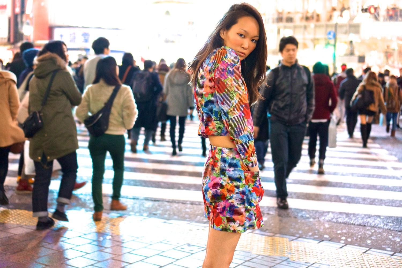 mariko kuo lost in transalation at shibuya crossing tokyo