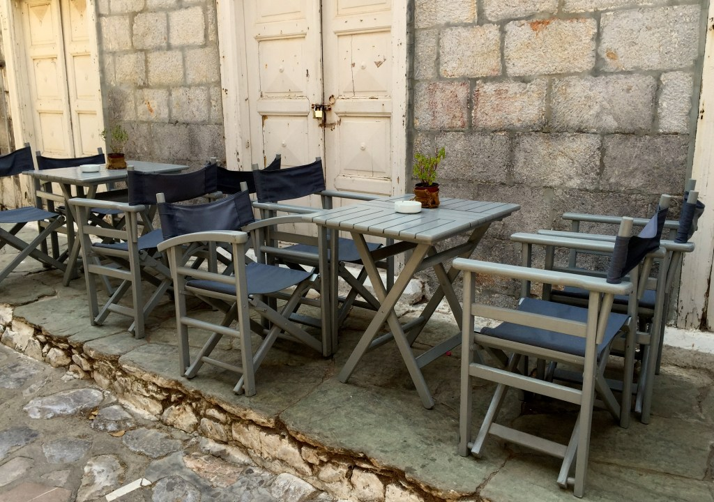 Greek Island Taverna chairs