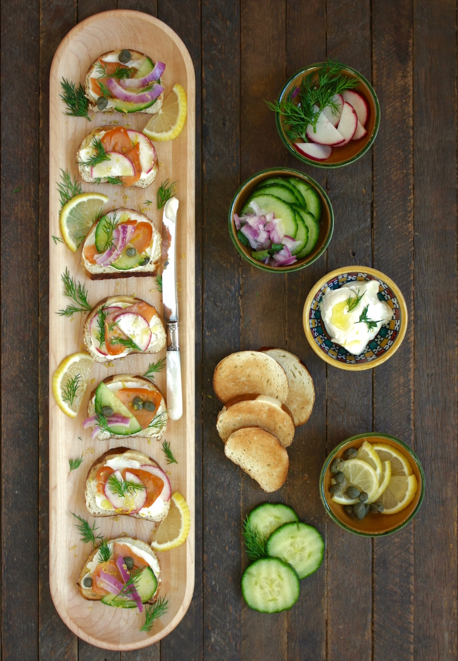 Open-Faced Salmon Sandwiches