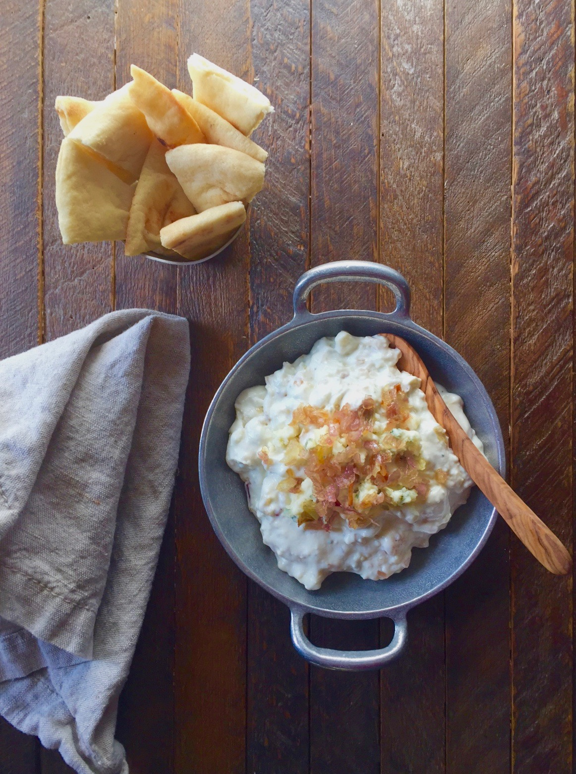 Caramelized Shallots and Gorgonzola Dip