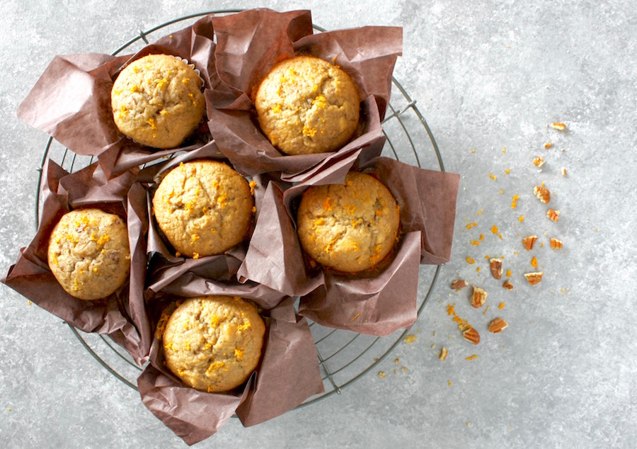 healthy Banana and walnut muffins