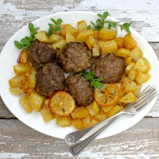 Traditional Greek Meatballs with Lemon and Herbs