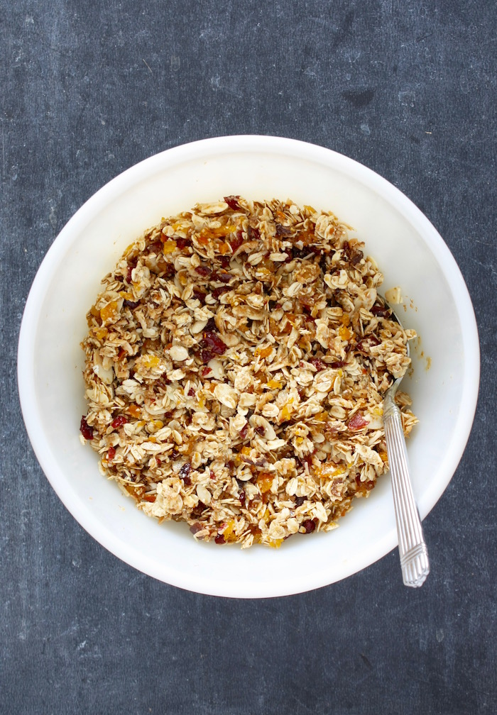 Mixed ingredients for Granola