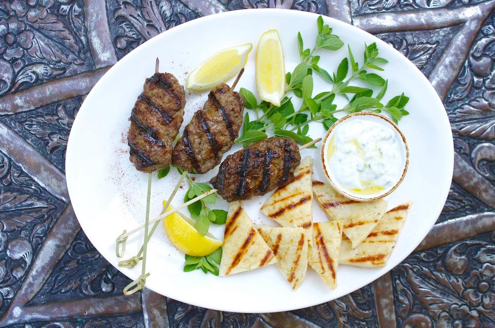 Ground Meat Kebabs on skewers