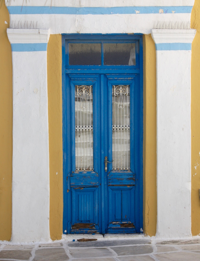 Doors of the Greek Islands - Leeks door