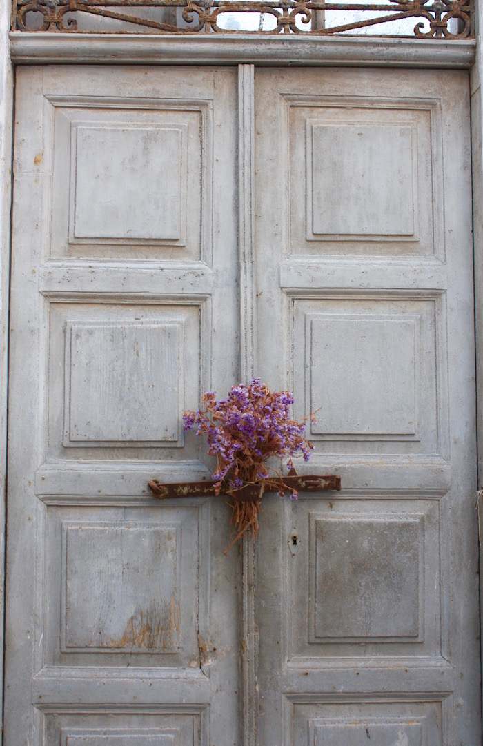 Doors of the Greek Islands - grey door