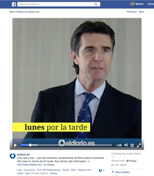 Facebook vídeo