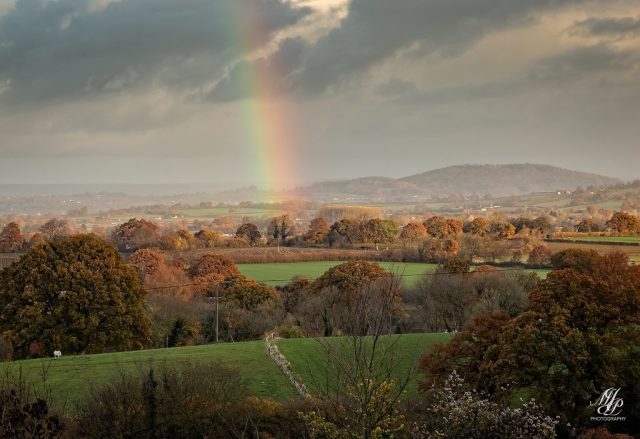 Autumn colours over the Blackmore Vale