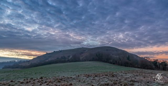 Dramatic cloud over Hambledon Hill